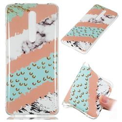 Diagonal Grass Soft TPU Marble Pattern Phone Case for Xiaomi Redmi K20 Pro
