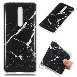 Black Rough white Soft TPU Marble Pattern Phone Case for Xiaomi Redmi K20 Pro