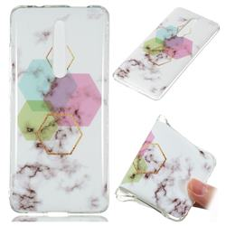Hexagonal Soft TPU Marble Pattern Phone Case for Xiaomi Redmi K20 Pro