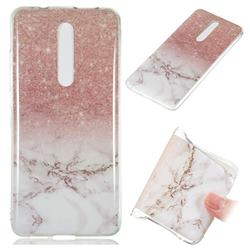 Glittering Rose Gold Soft TPU Marble Pattern Case for Xiaomi Redmi K20 Pro