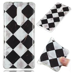 Black and White Matching Soft TPU Marble Pattern Phone Case for Xiaomi Redmi K20 Pro