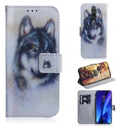 Snow Wolf PU Leather Wallet Case for Xiaomi Redmi K20 Pro
