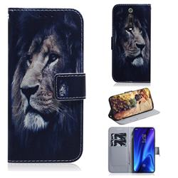 Lion Face PU Leather Wallet Case for Xiaomi Redmi K20 Pro