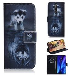 Wolf and Dog PU Leather Wallet Case for Xiaomi Redmi K20 Pro