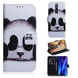 Sleeping Panda PU Leather Wallet Case for Xiaomi Redmi K20 Pro