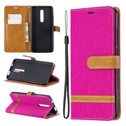Jeans Cowboy Denim Leather Wallet Case for Xiaomi Redmi K20 Pro - Rose