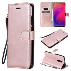 Retro Greek Classic Smooth PU Leather Wallet Phone Case for Xiaomi Redmi K20 Pro - Rose Gold