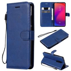 Retro Greek Classic Smooth PU Leather Wallet Phone Case for Xiaomi Redmi K20 Pro - Blue