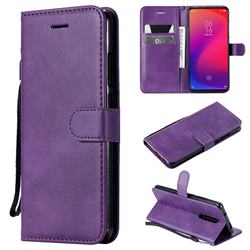 Retro Greek Classic Smooth PU Leather Wallet Phone Case for Xiaomi Redmi K20 Pro - Purple