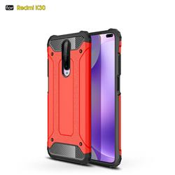 King Kong Armor Premium Shockproof Dual Layer Rugged Hard Cover for Xiaomi Redmi K30 - Big Red