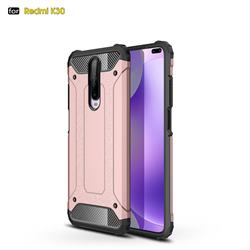 King Kong Armor Premium Shockproof Dual Layer Rugged Hard Cover for Xiaomi Redmi K30 - Rose Gold