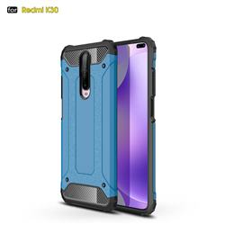 King Kong Armor Premium Shockproof Dual Layer Rugged Hard Cover for Xiaomi Redmi K30 - Sky Blue