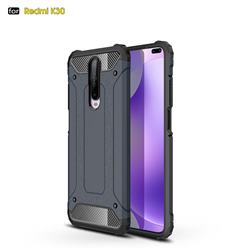 King Kong Armor Premium Shockproof Dual Layer Rugged Hard Cover for Xiaomi Redmi K30 - Navy