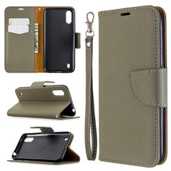Classic Luxury Litchi Leather Phone Wallet Case for Xiaomi Redmi K30 - Gray