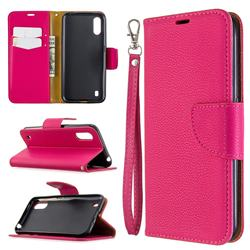 Classic Luxury Litchi Leather Phone Wallet Case for Xiaomi Redmi K30 - Rose