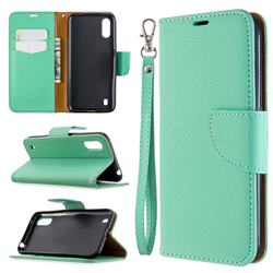 Classic Luxury Litchi Leather Phone Wallet Case for Xiaomi Redmi K30 - Green