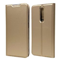 Ultra Slim Card Magnetic Automatic Suction Leather Wallet Case for Xiaomi Redmi K30 - Champagne