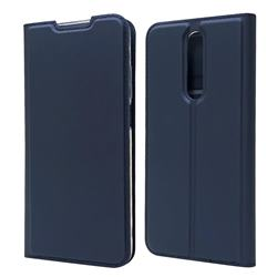 Ultra Slim Card Magnetic Automatic Suction Leather Wallet Case for Xiaomi Redmi K30 - Royal Blue