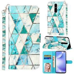 Stitching Marble 3D Leather Phone Holster Wallet Case for Xiaomi Redmi K30