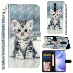 Kitten Cat 3D Leather Phone Holster Wallet Case for Xiaomi Redmi K30