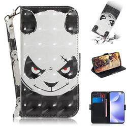 Angry Bear 3D Painted Leather Wallet Phone Case for Xiaomi Redmi K30