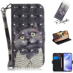 Cat Embrace 3D Painted Leather Wallet Phone Case for Xiaomi Redmi K30