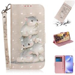 Three Squirrels 3D Painted Leather Wallet Phone Case for Xiaomi Redmi K30