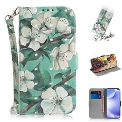 Watercolor Flower 3D Painted Leather Wallet Phone Case for Xiaomi Redmi K30