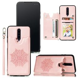 Luxury Mandala Multi-function Magnetic Card Slots Stand Leather Back Cover for Xiaomi Redmi K30 - Rose Gold