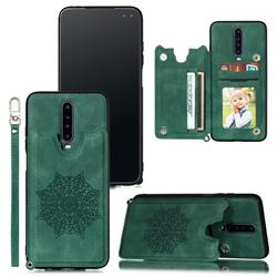 Luxury Mandala Multi-function Magnetic Card Slots Stand Leather Back Cover for Xiaomi Redmi K30 - Green