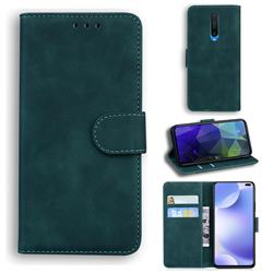 Retro Classic Skin Feel Leather Wallet Phone Case for Xiaomi Redmi K30 - Green