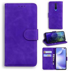 Retro Classic Skin Feel Leather Wallet Phone Case for Xiaomi Redmi K30 - Purple