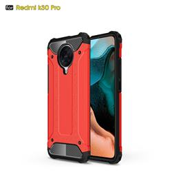 King Kong Armor Premium Shockproof Dual Layer Rugged Hard Cover for Xiaomi Redmi K30 Pro - Big Red