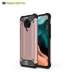 King Kong Armor Premium Shockproof Dual Layer Rugged Hard Cover for Xiaomi Redmi K30 Pro - Rose Gold