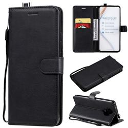 Retro Greek Classic Smooth PU Leather Wallet Phone Case for Xiaomi Redmi K30 Pro - Black