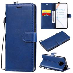 Retro Greek Classic Smooth PU Leather Wallet Phone Case for Xiaomi Redmi K30 Pro - Blue