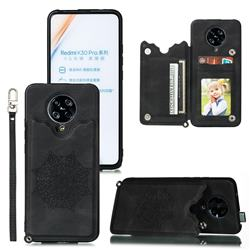 Luxury Mandala Multi-function Magnetic Card Slots Stand Leather Back Cover for Xiaomi Redmi K30 Pro - Black