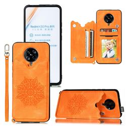 Luxury Mandala Multi-function Magnetic Card Slots Stand Leather Back Cover for Xiaomi Redmi K30 Pro - Yellow