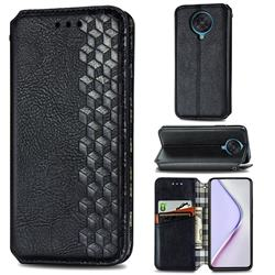 Ultra Slim Fashion Business Card Magnetic Automatic Suction Leather Flip Cover for Xiaomi Redmi K30 Pro - Black