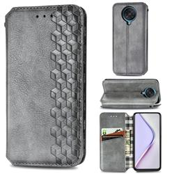 Ultra Slim Fashion Business Card Magnetic Automatic Suction Leather Flip Cover for Xiaomi Redmi K30 Pro - Grey
