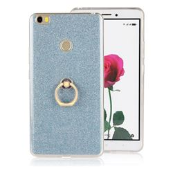 Luxury Soft TPU Glitter Back Ring Cover with 360 Rotate Finger Holder Buckle for Xiaomi Mi Max - Blue