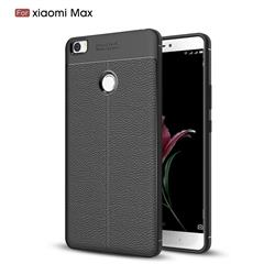 Luxury Auto Focus Litchi Texture Silicone TPU Back Cover for Xiaomi Mi Max - Black