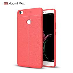 Luxury Auto Focus Litchi Texture Silicone TPU Back Cover for Xiaomi Mi Max - Red