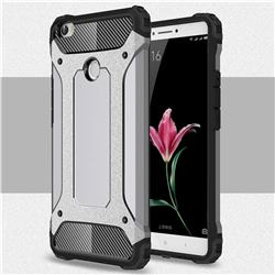 King Kong Armor Premium Shockproof Dual Layer Rugged Hard Cover for Xiaomi Mi Max - Silver Grey