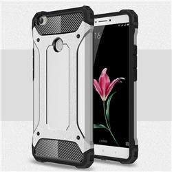 King Kong Armor Premium Shockproof Dual Layer Rugged Hard Cover for Xiaomi Mi Max - Technology Silver