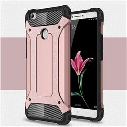 King Kong Armor Premium Shockproof Dual Layer Rugged Hard Cover for Xiaomi Mi Max - Rose Gold