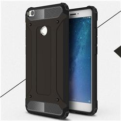 King Kong Armor Premium Shockproof Dual Layer Rugged Hard Cover for Xiaomi Mi Max 2 - Black Gold