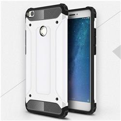 King Kong Armor Premium Shockproof Dual Layer Rugged Hard Cover for Xiaomi Mi Max 2 - White