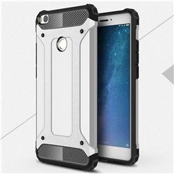 King Kong Armor Premium Shockproof Dual Layer Rugged Hard Cover for Xiaomi Mi Max 2 - Technology Silver