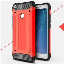 King Kong Armor Premium Shockproof Dual Layer Rugged Hard Cover for Xiaomi Mi Max 2 - Big Red